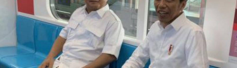 Pertemuan Prabowo dan Jokowi di MRT